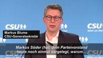 CSU: Entscheidung über CDU-Vorsitz und K-Frage trennen