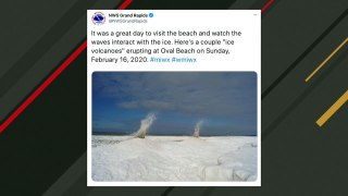 Bizarre 'Ice Volcanoes' Caught On Camera In Michigan