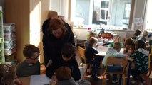 Échange linguistique à l'école de Lesdain