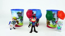 Learn Colors with PAW Patrol Toys and Vehicles with Popping Colorful Balloons-