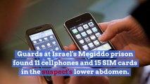 Palestinian security prisoner found with 11 cellphones in abdomen