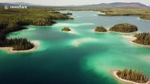 Stunning Caribbean-esque lake is actually located in northern Canada