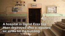 Syria: Aftermath of a reported airstrike that hit a hospital in Aleppo