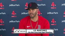 "J.D. Martinez On Alex Cora Sign-Stealing: ""He Never Influenced Us In Any Way."""