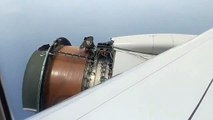 Cet avion a perdu une partie de son réacteur en plein vol
