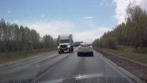 Truck spectacular somersault!