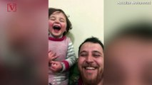The Sweetest Giggle Ever: Syrian Dad Teaches Daughter to Laugh at Bombs to Cope with Fear