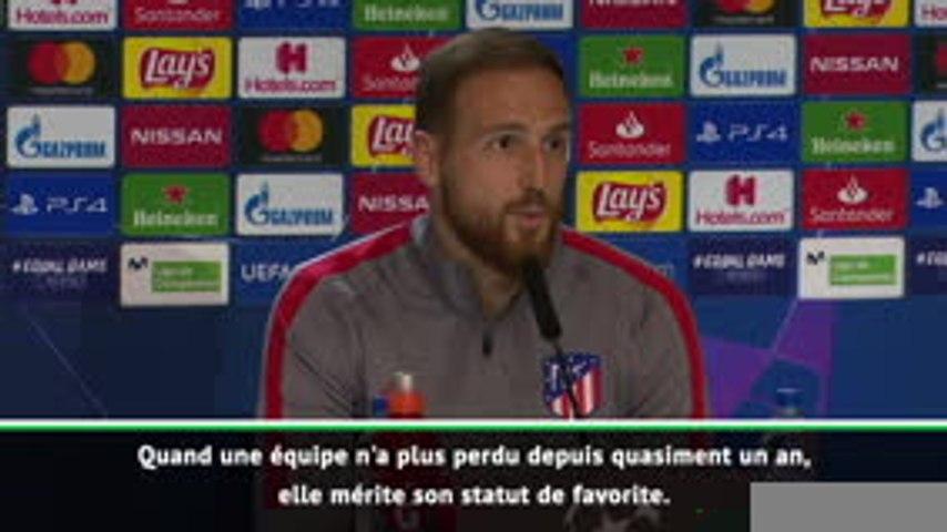 """Atlético - Oblak : """"Rester en vie en vue du match retour"""""""
