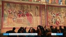 Vatican : la chapelle Sixtine retrouve les tapisseries de Raphaël