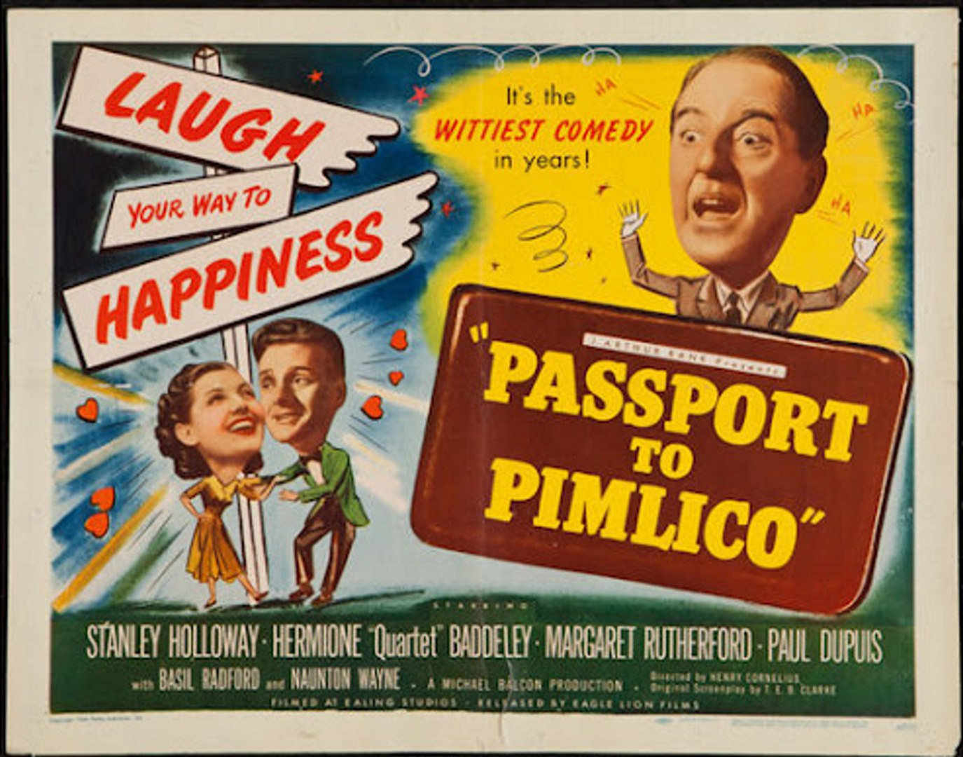 Passport To Pimlico 3  British Movie Posters Classic Vintage /& Films