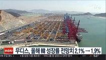 무디스, 올해 韓 성장률 전망치 2.1%→1.9%