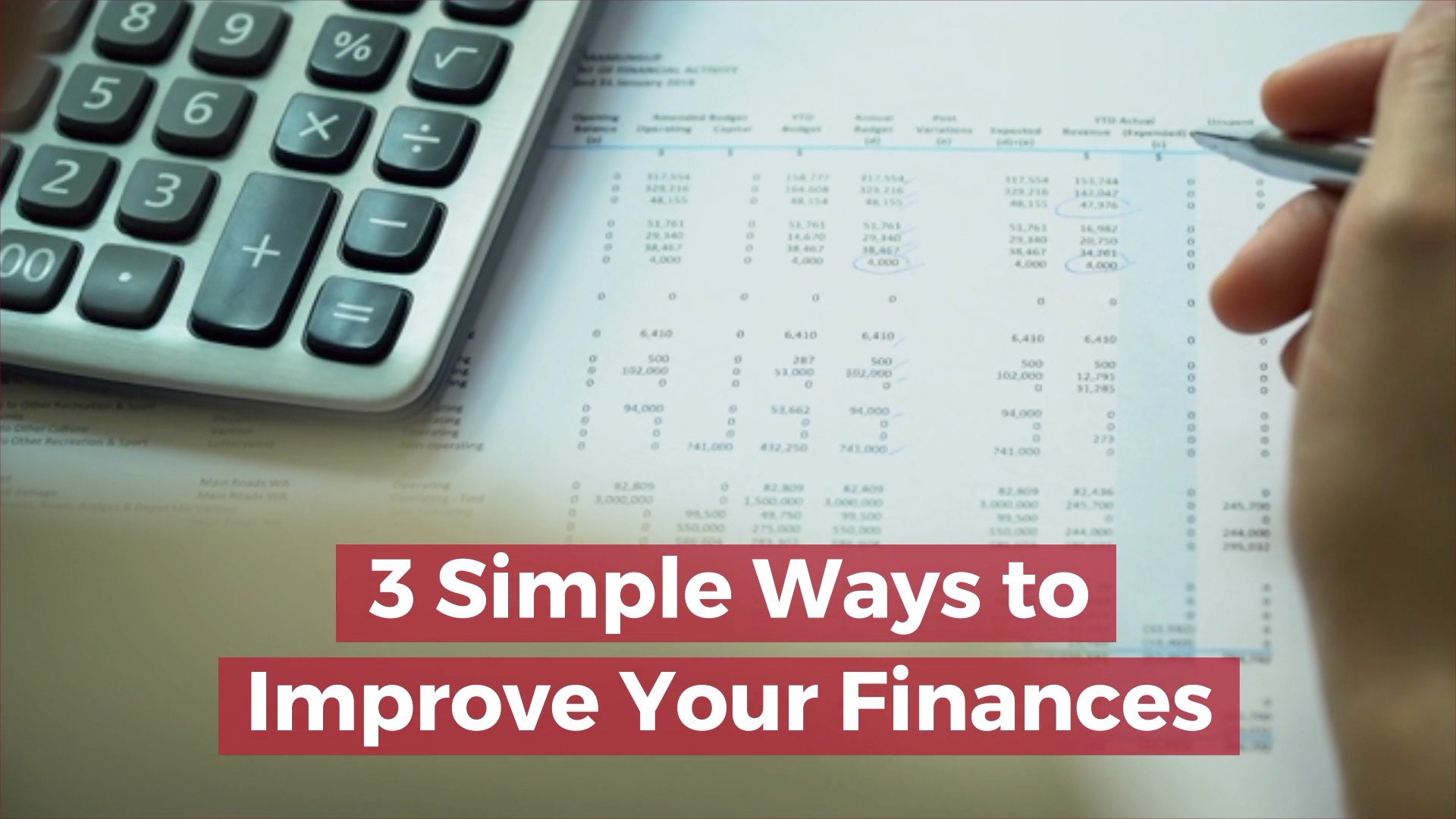 3 Very Simple Ways to Boost your Finances