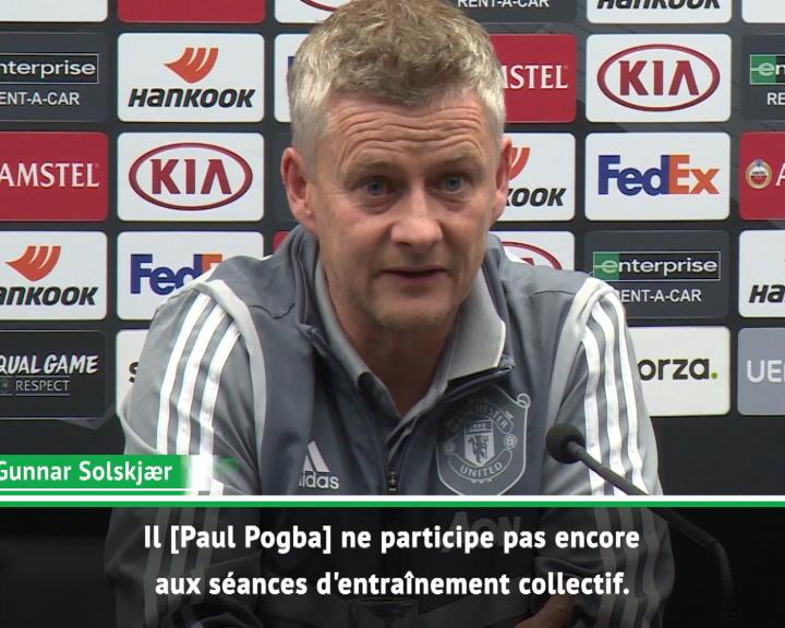 Man United - Pogba n'est pas proche d'un retour, selon Solskjær