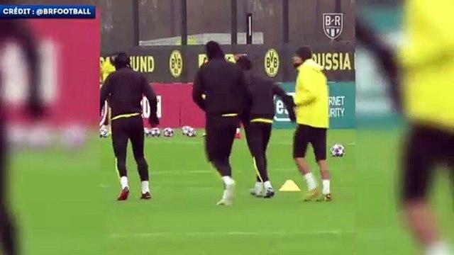 Erling Haland imite la célébration de Cristiano Ronaldo