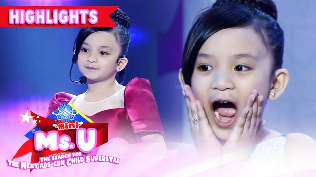 Pola Domingo is crowned as Mini Ms U of the Day | It's Showtime Mini Miss U