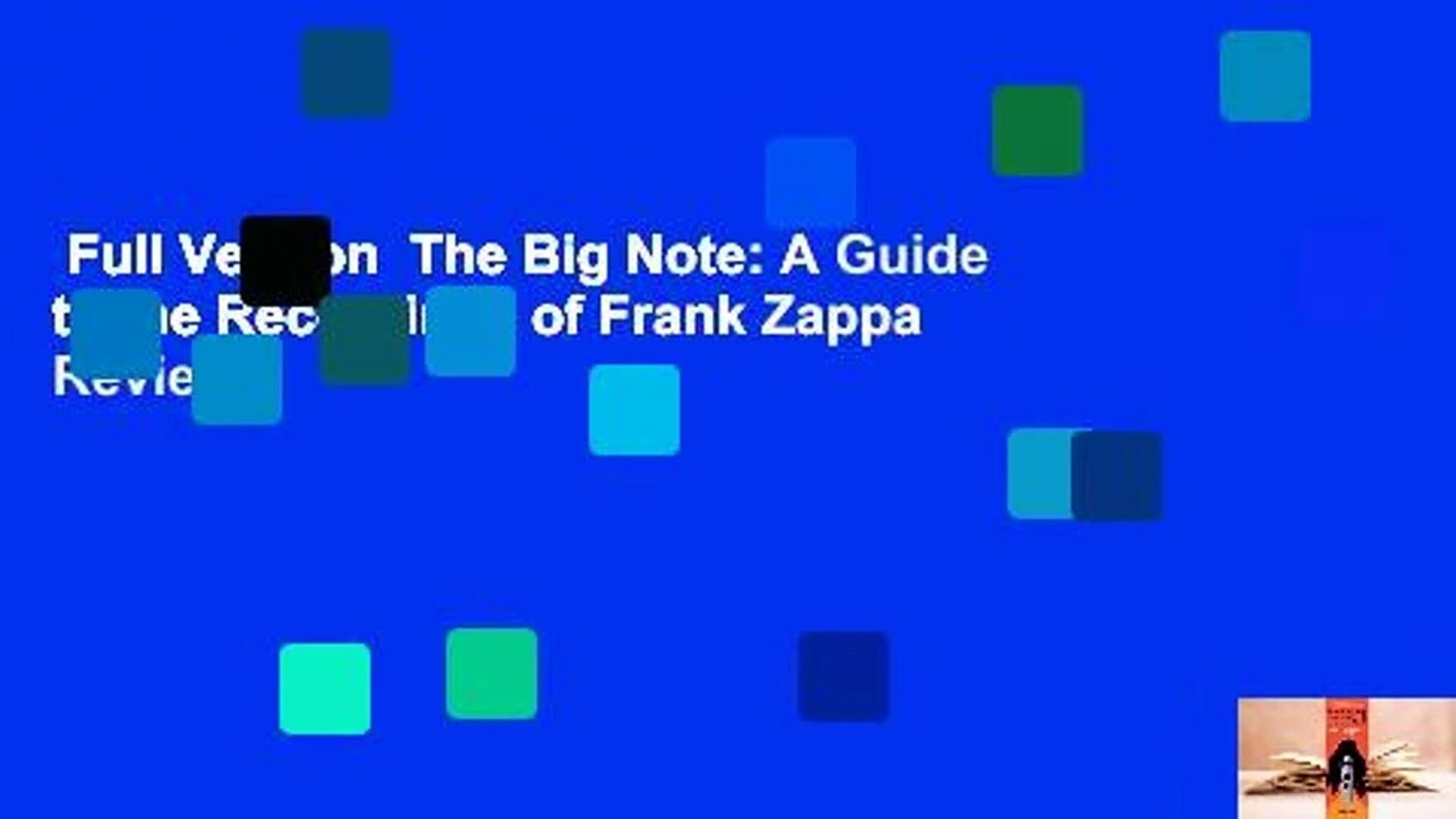 Full Version  The Big Note: A Guide to the Recordings of Frank Zappa  Review