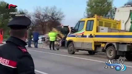 Rimossi rifiuti abbandonati a Canicattì. News Agrigentotv
