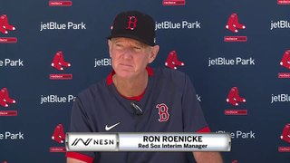 Ron Roenicke Red Sox Spring Training News Conference (2/18)