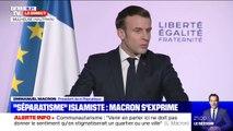 """Emmanuel Macron: """"On ne doit jamais accepter que les lois de la religion puissent être supérieures à celles de la République"""""""