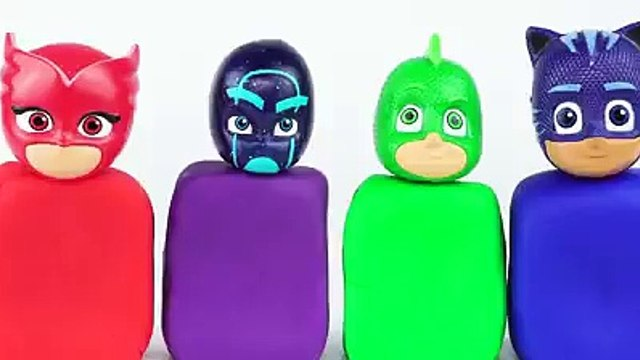 Juguetes 2000 - PJ Masks Toys - Learn Colors with Wrong Heads Toys with Play Doh, and Paint for Kids!