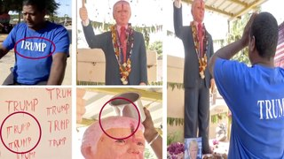 Donald Trump worshiper in India
