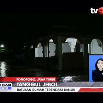 Tanggul Jebol, Ratusan Rumah di Ponorogo Terendam Banjir