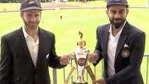 Ind vs Nz 1st Test   Team Virat was seen practising prior first test   Virat Kohli   Kane williamson