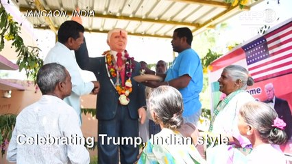 Indian superfan pays tribute to Donald Trump