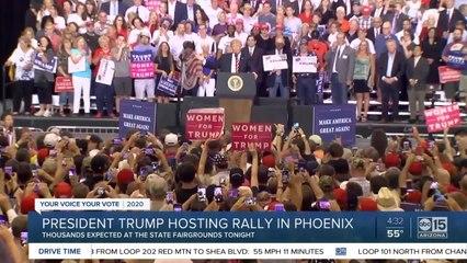 President Trump hosting rally in Phoenix Wednesday night
