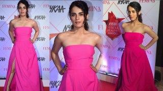 Radhika Madan looks stunning in Off Shoulder Gown at Nykaa Femina Awards | FilmiBeat