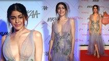 Alaya Furniturewala SHINES ❤ in her asymmetric sheer gown WORTH 5 LAKH at FEMINA BEAUTY AWARDS 2020