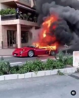 VÍDEO: Nos duele en el alma, un Ferrari F40 en llamas en las calles de Mónaco