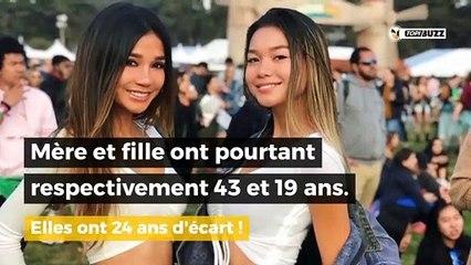 Mère et fille ont respectivement 43 et 19 ans. Il est impossible de les différencier !