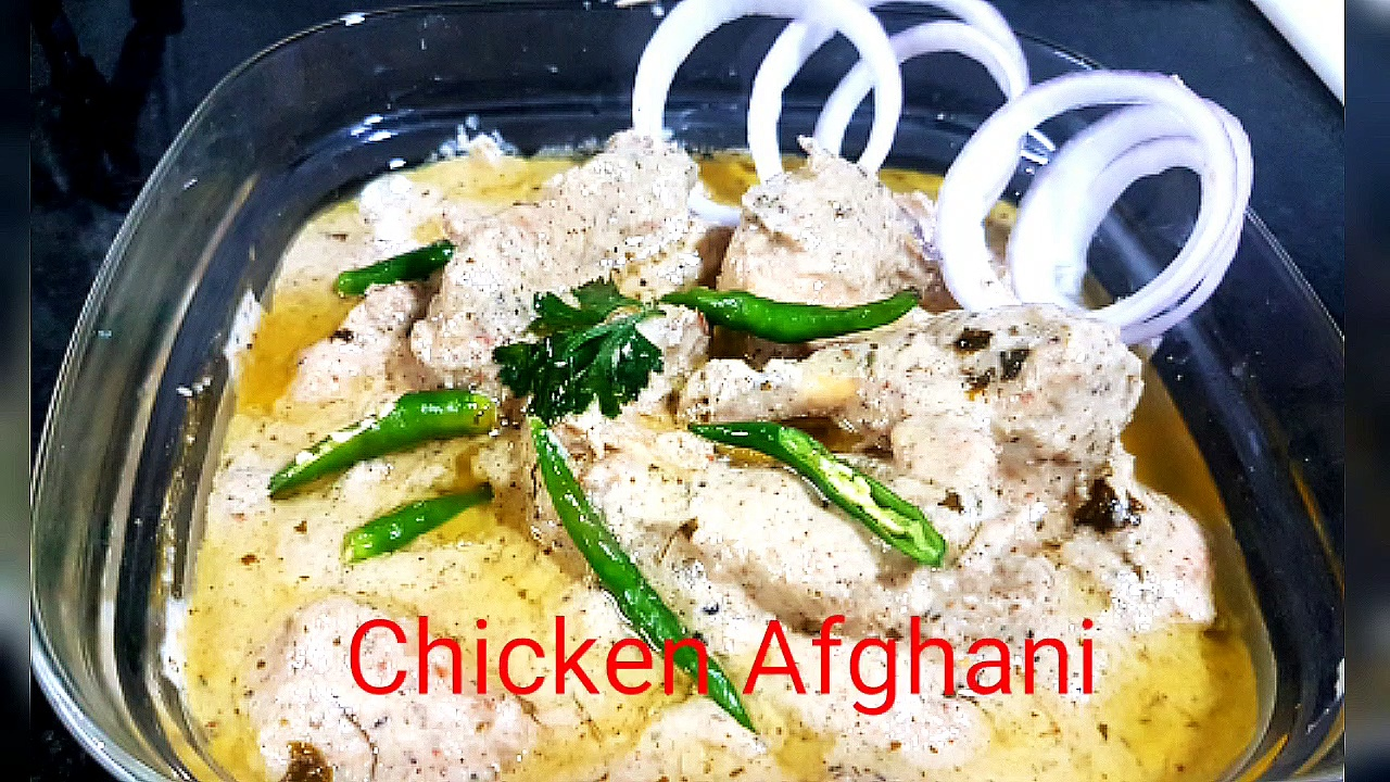 Chicken Afghani gravy_ _ Easy to make _ Mughali Chicken Afghani _ Afghani chicken korma
