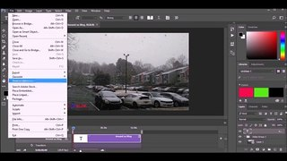 Photoshop CC 2017 Export PSD File to MP4 Video File Easy Learn