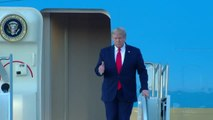 President Trump arrives in the Valley