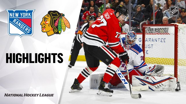 NHL Highlights | Rangers @ Blackhawks 02/19/20