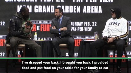 Wilder makes ugly attack on Fury's difficult past