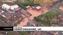 Du ciel, les importants dégâts en Angleterre de la tempête Dennis