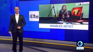 Disabled Afghan  artist opens arts center