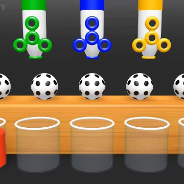 Learn Colors with Surprise Soccer Balls