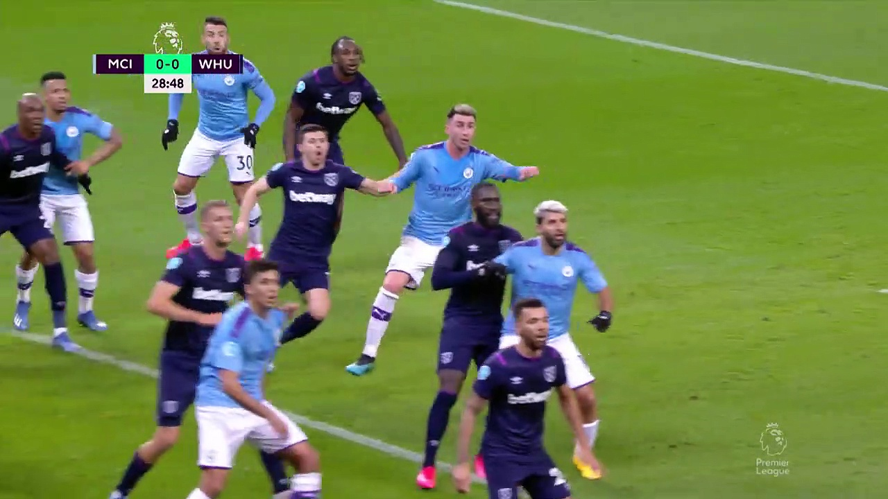 Manchester City - West Ham (2-0) - Maç Özeti - Premier League 2019/20