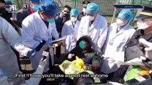 Covid-19 survivor leaves hospital in Wuhan