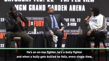 Wilder doesn't have the b****** to take a shot - Fury