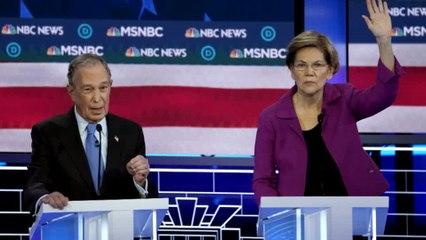 Warren takes aim at Bloomberg during Dems debate