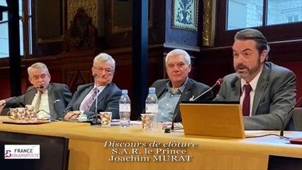 S.A.R. le Prince Joachim MURAT (discours de clôture)