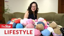 Evelyn Hoe's knitted knockers gives confidence to breast cancer survivors who have undergone a mastectomy