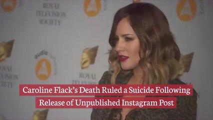 Caroline Flack's Death Was Suicide