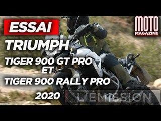TRIUMPH TIGER 900 GT PRO & RALLY PRO - ESSAI MOTO MAGAZINE