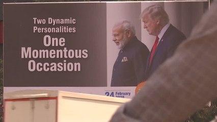 India has a facelift ahead of Trump's visit